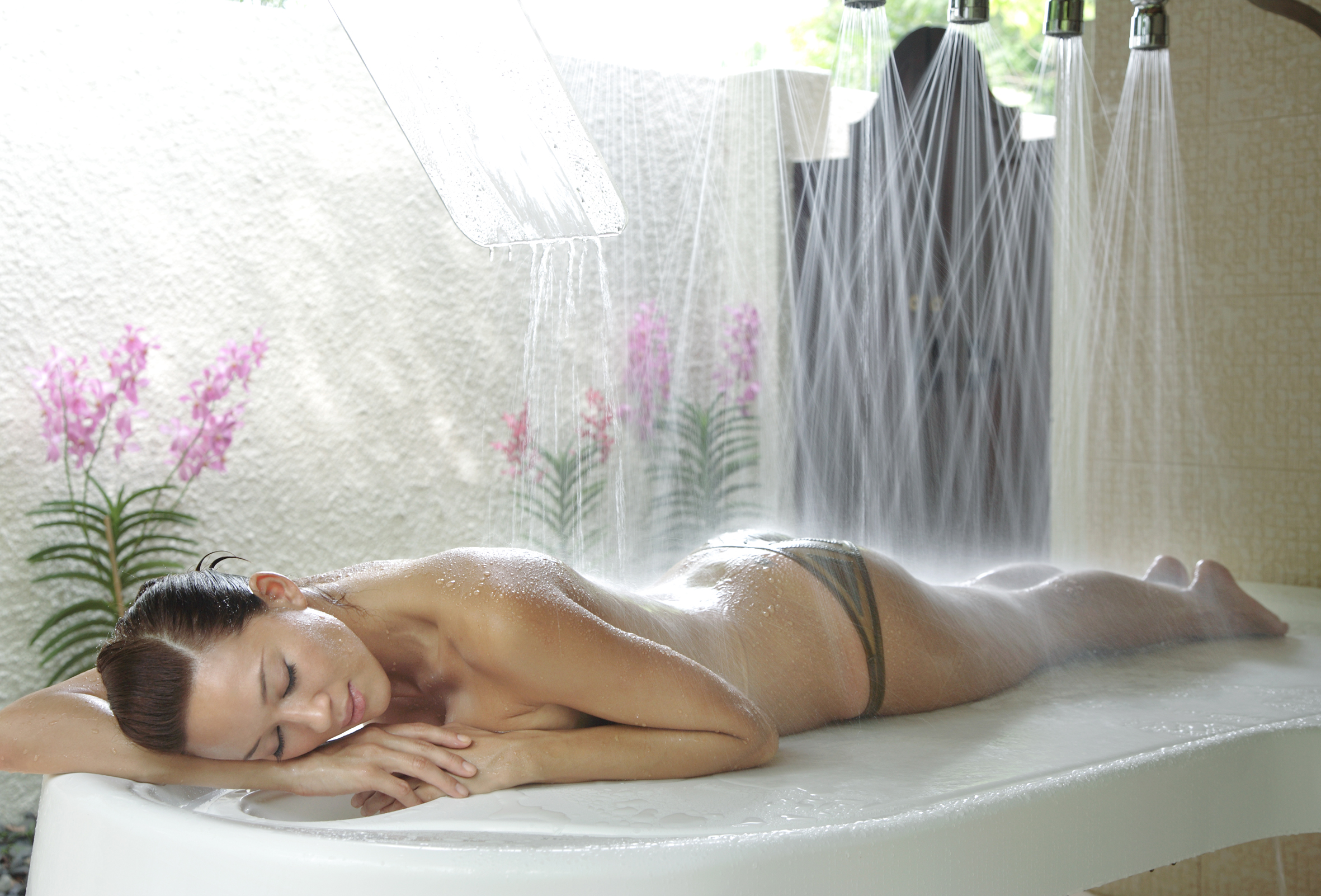 video shower and massage